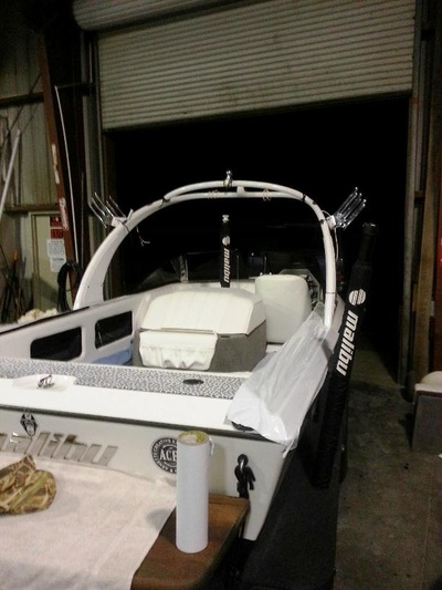 Older Malibu part way through remodel by James Boat and Fiberglass Repair, Vacaville, CA