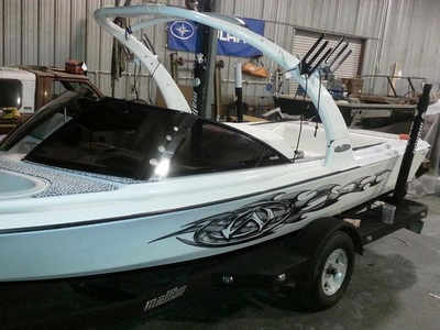 Older Malibu ski boat transformed with new everything by James Boat and Fiberglass Repair, Vacaville, CA