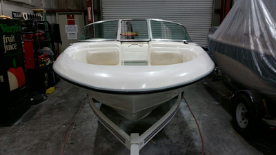 Finished and polished up, this Sea Ray looks great again by James Boat and Fiberglass Repair, Vacaville, CA