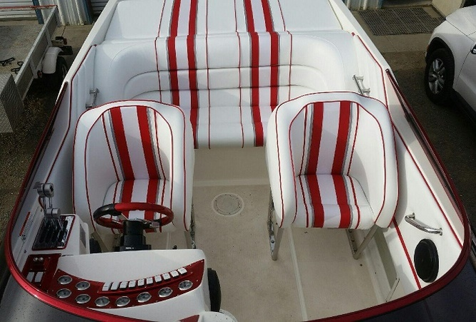 New Upholstery for Scarab by James Boat Repair Dixon, CA