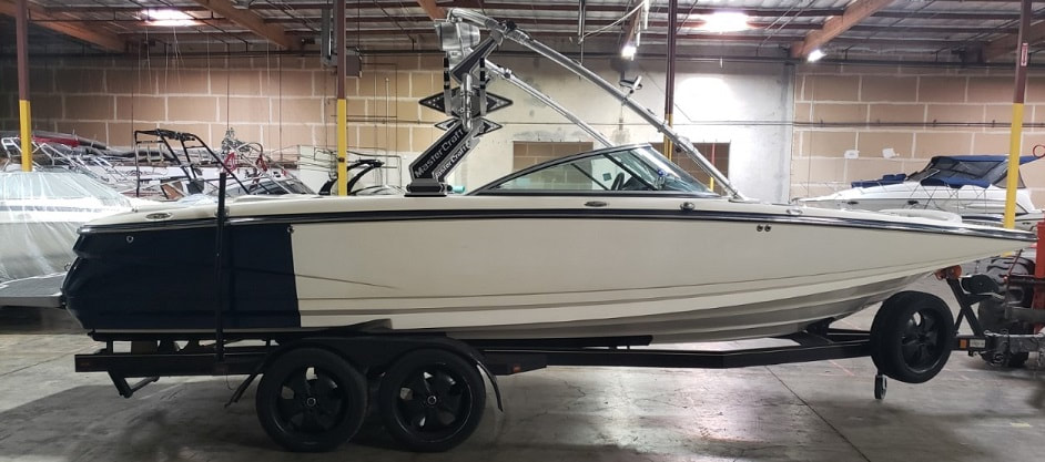 Before photo of MasterCraft X45 right side