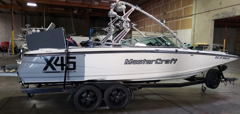 After photo of right side of MasterCraft X45 by James Boat and Fiberglass Repair, Vacaville, CA
