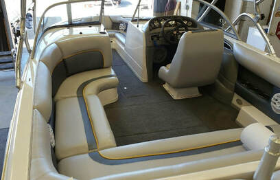 New interior, Supra boat, done by James Boat and Fiberglass Repair, Vacaville, CA
