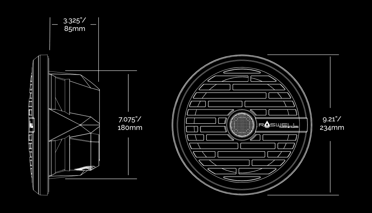 Roswell R1 - 8.0 speaker schematic